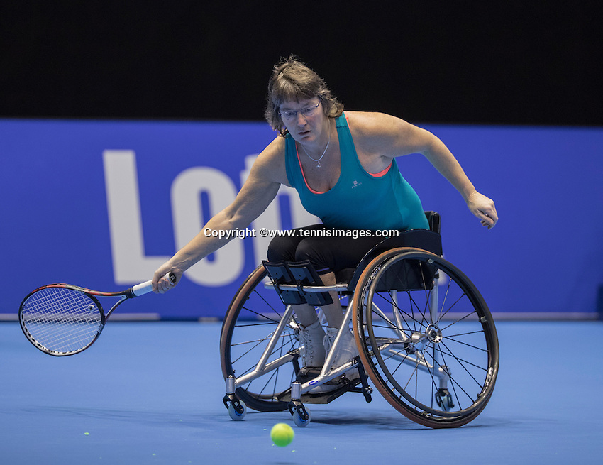 Rotterdam, Netherlands, December 14, 2016, Topsportcentrum, Lotto NK Tennis,  Wheelchair, Marlise Peters (NED) <br /> Photo: Tennisimages/Henk Koster