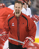 Mark Osiecki - The University of Wisconsin Badgers practiced on Wednesday, April 5, 2006, at the Bradley Center in Milwaukee, Wisconsin.  The Badgers won the Title by defeating Maine on April 6 and Boston College on April 8.