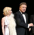 "Anne Heche and Alec Baldwin during the Roundabout Theatre Company One-Night Only Benefit Reading Curtain Call for  ""Twentieth Century"" at Studio 54 on April 29, 2019 in New York City."