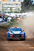 5th October 2017, Costa Daurada, Salou, Spain; FIA World Rally Championship, RallyRACC Catalunya, Spanish Rally; Daniel Sordo and his co-driver Marc Marti of Spain compete in their Hyundai Motorsport I20 Coupe WRC during the shakedown