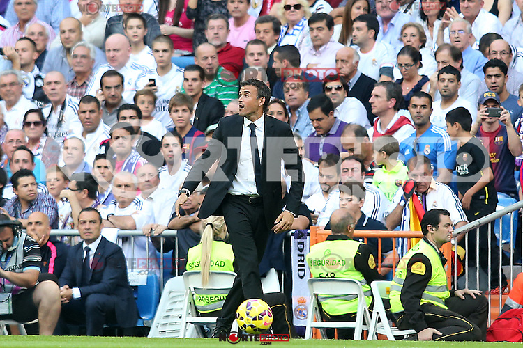 FC Barcelona's coach Luis Enrique Martinez during La Liga match.October 25,2014. (ALTERPHOTOS/Acero) /nortephoto.com