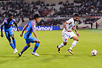 Sayed Dhiya Saeed of Bahrain (R) is followed by Udanta Singh Kumam of India (L) during the AFC Asian Cup UAE 2019 Group A match between India (IND) and Bahrain (BHR) at Sharjah Stadium on 14 January 2019 in Sharjah, United Arab Emirates. Photo by Marcio Rodrigo Machado / Power Sport Images