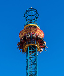 Hair Raiser ride at Luna Park, North Sydney, NSW Australia. <br /> <br /> The ride raises you 50 meters above sea level before being dropped over 80 km's an hour back to earth.