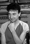 """John Deacon of Queen attend Queen Press Conference for """"Hot Space"""" at Crazy Eddie's on July 27, 1982  in New York City."""