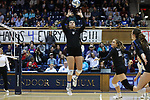 DURHAM, NC - NOVEMBER 24: Duke's Emma Paradiso (TUR). The Duke University Blue Devils hosted the University of North Carolina Tar Heels on November 24, 2017 at Cameron Indoor Stadium in Durham, NC in a Division I women's college volleyball match. Duke won 3-0 (25-21, 25-22, 25-20).