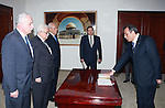 Palestinian President Mahmoud Abbas (Abu Mazen) assigns Esam masalha as ambassador to Albania in the West Bank city of Ramallah on August 21,2010. Photo by Thaer Ganaim