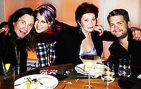 Osbourne bumps into Victoria and David Beckham while celebrating her brother Jack's birthday.<br />