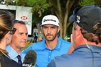 Dustin Johnson (USA) during a post match interview following  round 7 of the World Golf Championships, Dell Technologies Match Play, Austin Country Club, Austin, Texas, USA. 3/26/2017.<br /> Picture: Golffile | Ken Murray<br /> <br /> <br /> All photo usage must carry mandatory copyright credit (&copy; Golffile | Ken Murray)