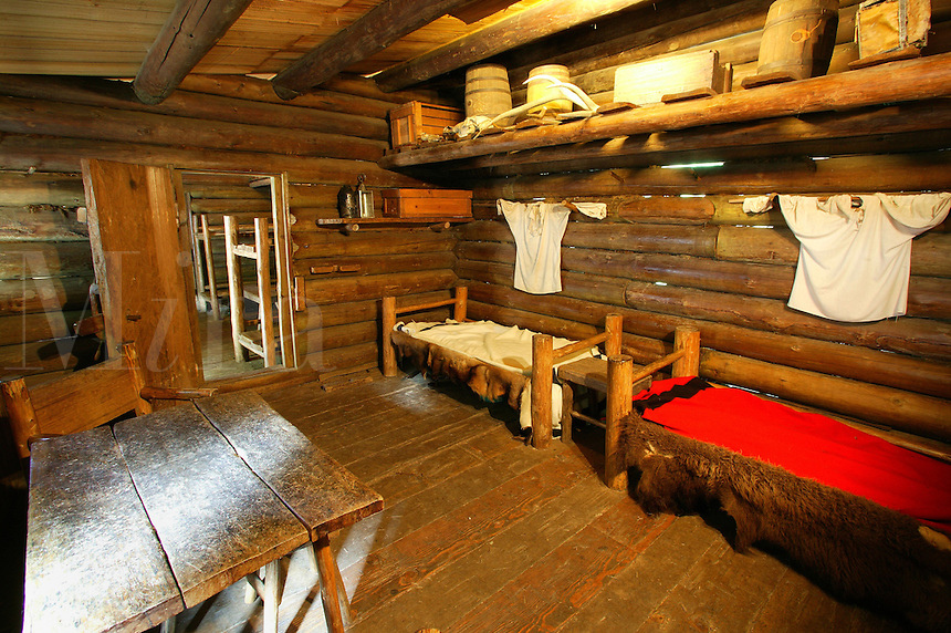 Captains' Quarters, Fort Clatsop National Memorial, Oregon.