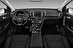 Stock photo of straight dashboard view of 2017 KIA Sportage SXAWD 5 Door SUV Dashboard