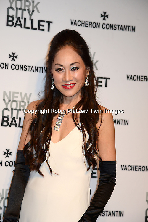 Lucia Hwong Gordon attends the New York City Ballet Spring 2014 Gala on May 8, 2014 at David Koch Theatre in Lincoln Center in New York City, NY, USA.