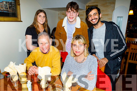 Enjoying the evening in Bella Bia on Saturday.<br /> Front Colm O'Shuilleabhain and Sorcha Ní Shuilleabhain.<br /> Back l to r: Jimmy O'Shuilleabhain, Eimear Ní Shuilleabhain and Abdul Khaiob.