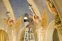 Church restoration continues at St. Mary's Catholic Church in Marietta, OH. Tuesday, September 16, 2008.