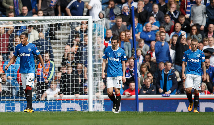 Rangers dejection after OG