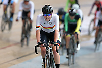 Racquel Sheath of Waikato BOP after finishing first in the Elite Women Omnium 1, Scratch Race 7.5km,  at the Age Group Track National Championships, Avantidrome, Home of Cycling, Cambridge, New Zealand, Sunday, March 19, 2017. Mandatory Credit: © Dianne Manson/CyclingNZ  **NO ARCHIVING**