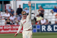 Simon Harmer of Essex celebrates taking the wicket of Tim Murtagh during Essex CCC vs Middlesex CCC, Specsavers County Championship Division 1 Cricket at The Cloudfm County Ground on 26th June 2017