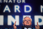 Senator Edward Kennedy speaks at the Democratic National Convention at the Pepsi Center in Denver, Co. on August 25, 2008.