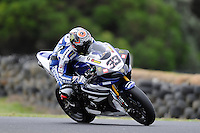 PHILLIP ISLAND, 22 FEBRUARY - Marco Melandri (ITA) riding the Yamaha YZF R1 (33) of the Yamaha World Superbike Team at day two of the testing session prior to round one of the 2011 FIM Superbike World Championship at Phillip Island, Australia. (Photo Sydney Low / syd-low.com)