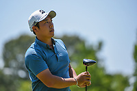 Mikumu Horikawa (JPN) watches his tee shot on 2 during round 1 of the WGC FedEx St. Jude Invitational, TPC Southwind, Memphis, Tennessee, USA. 7/25/2019.<br /> Picture Ken Murray / Golffile.ie<br /> <br /> All photo usage must carry mandatory copyright credit (© Golffile | Ken Murray)