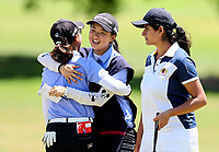 North Harbour celebrate a win. Day One of the Toro Interprovincial Women's Championship, Sherwood Golf Club, Wjangarei,  New Zealand. Monday 4 December 2017. Photo: Simon Watts/www.bwmedia.co.nz