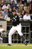 Chicago White Sox infielder Paul Konerko (14) during a game vs. the Detroit Tigers at U.S. Cellular Field in Chicago, Illinois August 13, 2010.   Chicago defeated Detroit 8-4.  Photo By Mike Janes/Four Seam Images