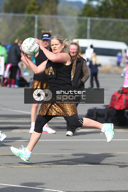 NELSON, NEW ZEALAND - October 2: SIMG Netball on October 2, 2015 in Nelson, New Zealand. (Photo by: Evan Barnes Shuttersport Limited)