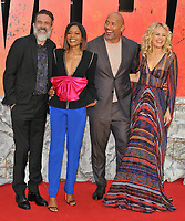 Jeffrey Dean Morgan, Naomie Harris, Dwayne Johnson, Malin Akerman and Brad Peyton at the &quot;Rampage&quot; European film premiere, Cineworld Empire, Leicester Square, London, England, UK, on Wednesday 11 April 2018.<br /> CAP/CAN<br /> &copy;CAN/Capital Pictures