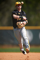 Iowa Hawkeyes second baseman Mitchell Boe (4) during a game against the Dartmouth Big Green on February 27, 2016 at South Charlotte Regional Park in Punta Gorda, Florida.  Iowa defeated Dartmouth 4-1.  (Mike Janes/Four Seam Images)