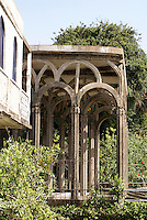 Concrete arches at the Posada El Castillo, former home of Edward James in Xilitla, San Luis Potosi state, Mexico