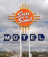 Sun 'n Sand Motel on old Route 66 in Santa Rosa, New Mexico