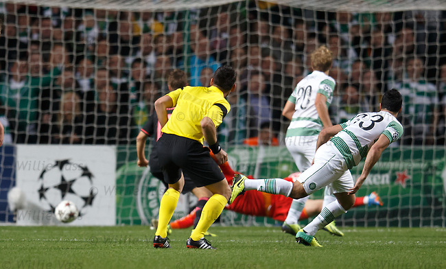 Beram Kayal scores the second goal for Celtic