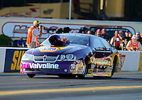 Oct. 5, 2012; Mohnton, PA, USA: NHRA pro stock driver Vincent Nobile during qualifying for the Auto Plus Nationals at Maple Grove Raceway. Mandatory Credit: Mark J. Rebilas-