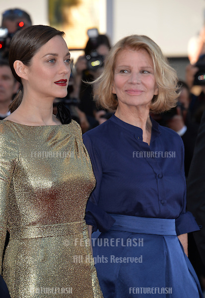 Director Nicole Garcia &amp; actress Marion Cotillard at the gala premiere of &quot;From the Land of the Moon&quot; (&quot;Mal de Pierres&quot;) at the 69th Festival de Cannes.<br /> May 15, 2016  Cannes, France<br /> Picture: Paul Smith / Featureflash
