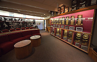 STANFORD, CA - April 14, 2011: Trophy room facilities at the Taube Family Tennis Center on Stanford's campus.