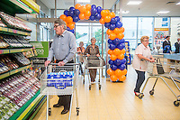 Thursday  21 July 2016<br /> Pictured: Customers shop inside the newly re-opened store  Re: ALDI Haverfordwest Grand Re-opening