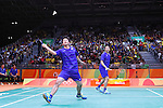 Hiroyuki Endo &amp; Kenichi Hayakawa (JPN), <br /> AUGUST 13, 2016 - Badminton : <br /> Men's Singles Group Play <br /> at Riocentro - Pavilion 4 <br /> during the Rio 2016 Olympic Games in Rio de Janeiro, Brazil. <br /> (Photo by Sho Tamura/AFLO SPORT)