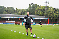 Goalkeeper / Coach Barry Richardson of Wycombe Wanderers ahead of the pre season friendly match between Aldershot Town and Wycombe Wanderers at the EBB Stadium, Aldershot, England on 22 July 2017. Photo by Andy Rowland.