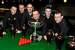 The New Institute Team from Nenagh, County Tipperary who won the Ladbrokes Munster Team Snooker competition at The Gleneagle Hotel, Killarney at the weekend. Included are from left, Damien Shoer, Damien Long, Mark Walsh, Tommy Gleeson, captain, Brendan O'Donoghue and Paudie Kelly..Picture by Don MacMonagle