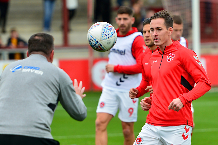Fleetwood Town's Josh Morris warms up trio to the match<br /> <br /> Photographer Richard Martin-Roberts/CameraSport<br /> <br /> The EFL Sky Bet League One - Fleetwood Town v Ipswich Town - Saturday 5th October 2019 - Highbury Stadium - Fleetwood<br /> <br /> World Copyright © 2019 CameraSport. All rights reserved. 43 Linden Ave. Countesthorpe. Leicester. England. LE8 5PG - Tel: +44 (0) 116 277 4147 - admin@camerasport.com - www.camerasport.com