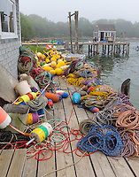 Central coast, Maine: Lobster buoys and gear the fishing village of Friendship