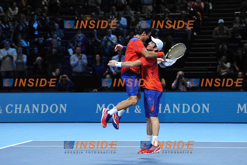 Fernando Verdasco et David Marrero (Esp) <br /> Londra 11/11/2013 Tennis Masters ATP <br /> Foto Panoramic / Insidefoto