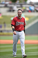 ***Temporary Unedited Reference File***Birmingham Barons first baseman Nicky Delmonico (24) during a game against the Pensacola Blue Wahoos on May 2, 2016 at Regions Field in Birmingham, Alabama.  Pensacola defeated Birmingham 6-3.  (Mike Janes/Four Seam Images)