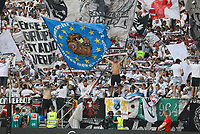 Fans von Eintracht Frankfurt - 01.08.2019: Eintracht Frankfurt vs. FC Flora Tallinn, UEFA Europa League, Qualifikation 2. Runde, Commerzbank Arena<br /> DISCLAIMER: DFL regulations prohibit any use of photographs as image sequences and/or quasi-video.