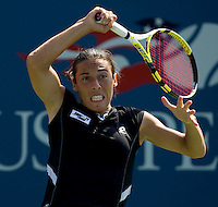 Francesca Schiavone (ITA) (26) against Na Li (CHN) (18) in the fourth round. Na Li beat Schiavone 6-2 6-3...International Tennis - US Open - Day 7 Sun 06 Sep 2009 - USTA Billie Jean King National Tennis Center - Flushing - New York - USA ..© Frey Images, 1st Floor, Barry House, 20-22 Worple Road, London, SW19 4DH. Telelphone - +44 208 947 0100 .Cell phone - +44 7843 383 012