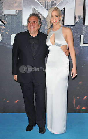 guest &amp; Jennifer Lawrence at the &quot;X-Men : Apocalypse&quot; global fan screening, BFI Imax, Charlie Chaplin Walk, London, England, UK, on Monday 09 May 2016.<br /> CAP/CAN<br /> &copy;CAN/Capital Pictures /MediaPunch ***NORTH AMERICA AND SOUTH AMERICA ONLY***