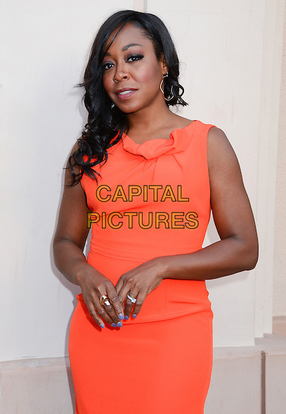 Tichina Arnold.TV Land presents An Evening with Iconic TV Actresses held at Leonard H. Goldenson Theatre, North Hollywood, California, USA..May 10th, 2012.half length orange dress sleeveless .CAP/ADM/BT.©Birdie Thompson/AdMedia/Capital Pictures.