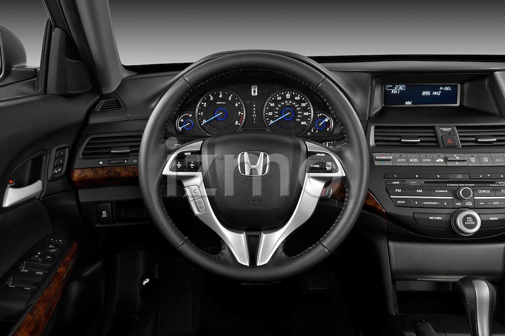 Steering wheel view of a 2012 Honda Crosstour EXL