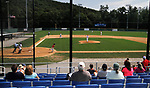 WATERBURY, CT - 06 AUGUST 2017 - 080617JW07.jpg -- Spectators watch as the North Haledon Reds take on the Albany Athletics Sunday afternoon at Waterbury Municipal Stadium during the Stan Musial East Coast World Series. Jonathan Wilcox Republican-American