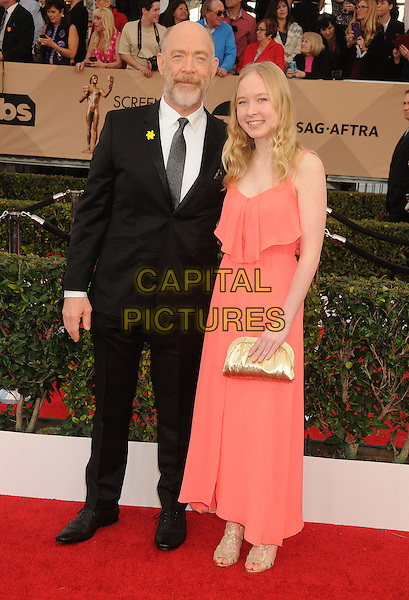 30 January 2016 - Los Angeles, California - J. K. Simmons, Olivia Simmons. 22nd Annual Screen Actors Guild Awards held at The Shrine Auditorium.      <br /> CAP/ADM/BP<br /> &copy;BP/ADM/Capital Pictures