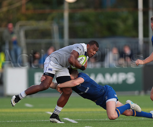 25th August 2017, Donnybrook Stadium, Dublin, Ireland; Pre Season Rugby Friendly; Leinster Rugby versus Bath Rugby; Barry Daly (Leinster) tackles Semesa Rokoduguni (Bath)